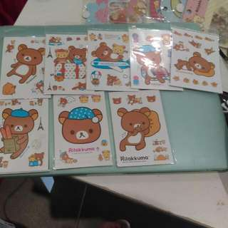 XL Rilakuma Stickers  (  6 Different Styles)