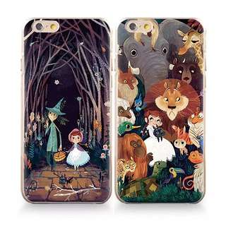 🦁2個$300 浮雕森林童話世界手機殼 軟殼
