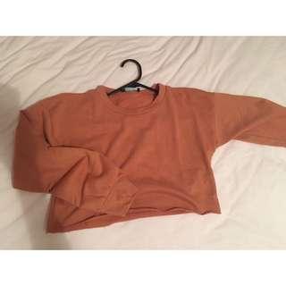 Orange/brown Cropped Sweater