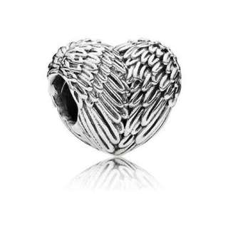 Angelic Feathers PANDORA Silver Charm