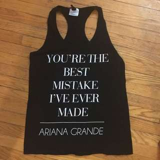 Black Ariana Grande Tank Top