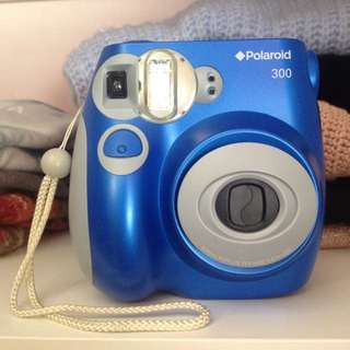 Polaroid 300 Instant Camera Blue