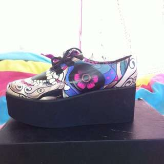 NEW Iron  First Sugar Skull Creepers Size 6