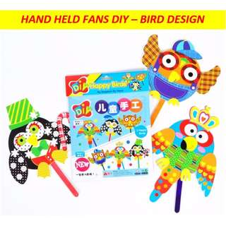 Kids hand held fans DIY art and craft / birthday goodie bag / party pack / holiday stay home activity