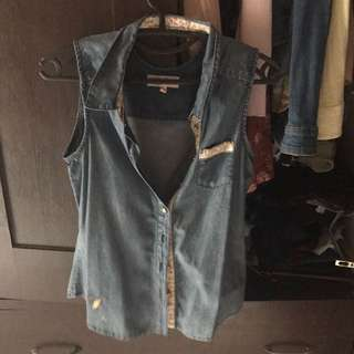 Denim Sleeveless Top Candies