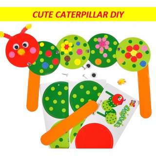 Cute caterpillar kids DIY art and craft / handicraft / school holiday activity / birthday goodie bag / party pack