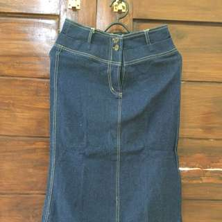 (REPRICE) Skirt Denim