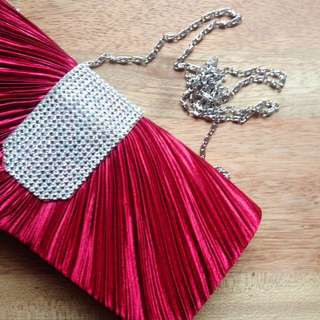 Clutch Bag With Crystal Embellishment