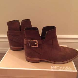 Michael Kors Suede Ankle Boots