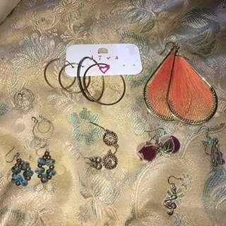Boho 70s Retro Earrings Bundle