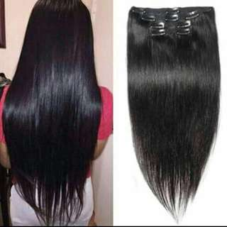 Human Hair Extension ( Clip On )