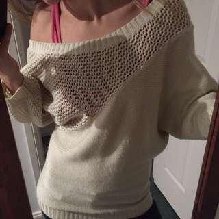 Off Shoulder Stylish Knit Jumper