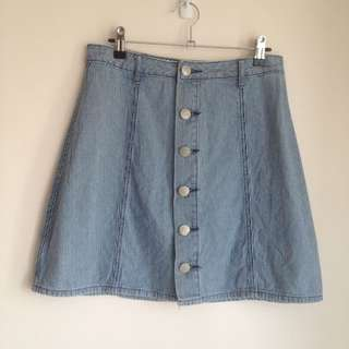 Cotton On Denim A-Line Skirt