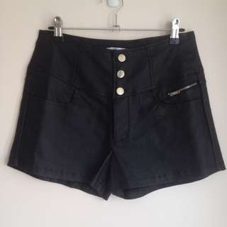 Valleygirl Coated Denim Shorts