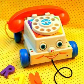 Fisher Price電話造型拉車玩具