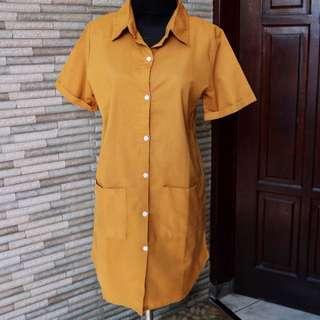 PRELOVED ✨ Mustard Dress Premium Bkk