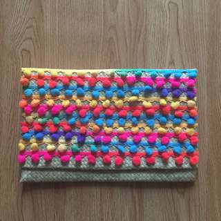 Rainbow Anyam Clutch Handmade