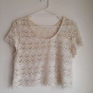 Factorie Crochet Crop Top