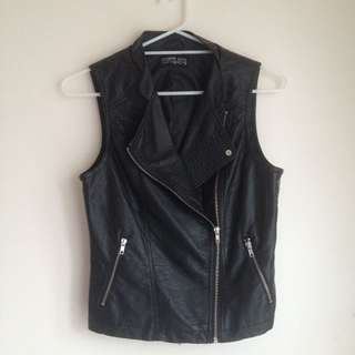 Cotton On Leather Biker Vest