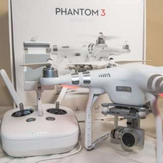 DJI Phantom 3 Advance with 2 batteries and propeller guard & HDMI upgrade