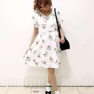 🚚 日系印花甜美洋裝