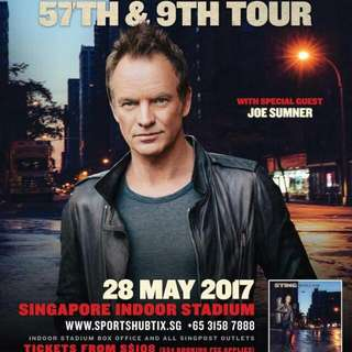 STING concert tickets, Cat 1 For Sell