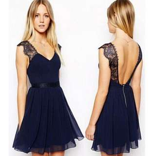 Victoria Lace Halter Dress
