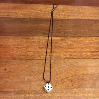 Dice Pendant w/ Necklace