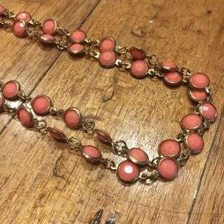 Pink Wraparound Necklace