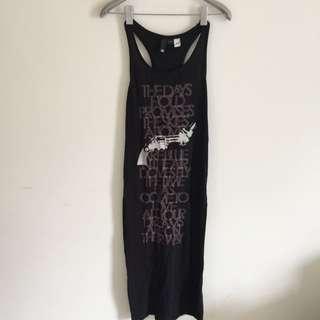 H&M黑色長裙