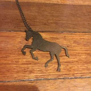 Metal Unicorn Pendant