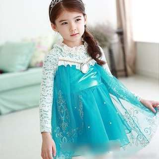 BLUE FROZEN BLOUSE