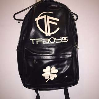Unisex Synthetic Leather Backpack