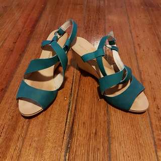 Windsor Smith - Teal Heels (Size 8)