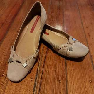Hush Puppies Suede Leather Flats - Size 38