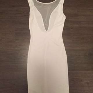 White American Apparel Backless Dress