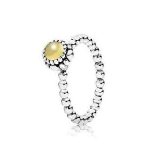 Pandora Birthstone Ring | November Citrine Yellow