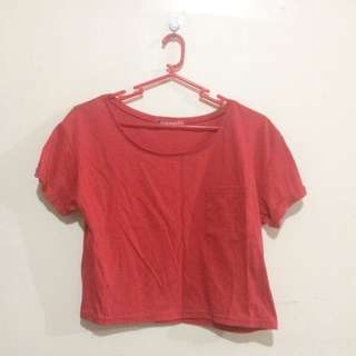 BALENO red cropped top