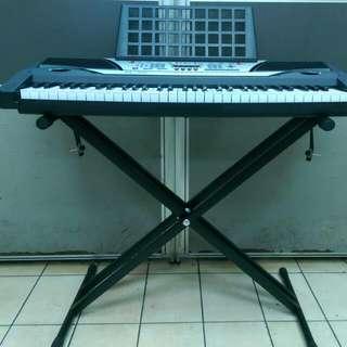 全新61鍵厚鍵電子琴含七段式雙叉腳架