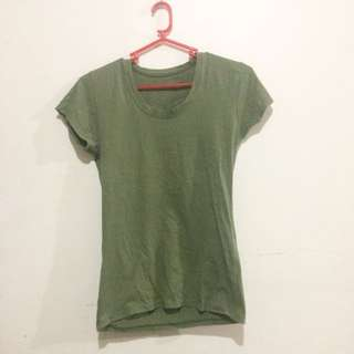 Fitted Army Green Shirt
