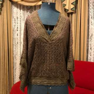 Valley Girl crochet lace top