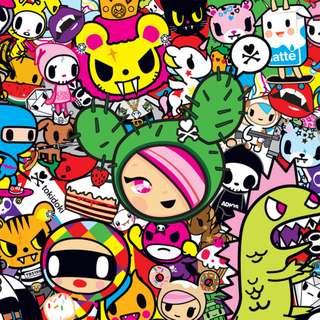 Personalized Tokidoki Birthday Poster, Banner, Bunting, Kitkat wrapper