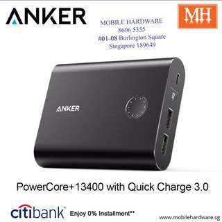 Anker PowerCore+ 13400mAh Portable Charger with Quick Charge 3.0 MH