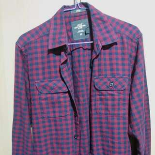 H&M L.O.G.G Red and Black Checked Shirt