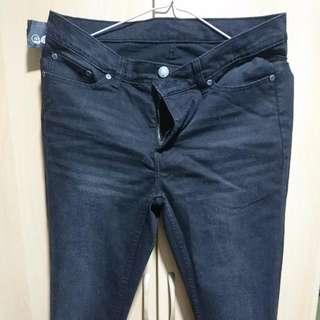 ASOS CHEAP MONDAY brand SONIC NEAR BLACK Jeans with zipper