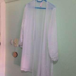 White Lace Robe