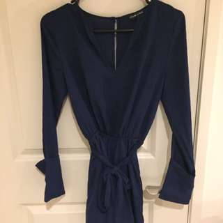 Ebonie And Ivory Navy Playsuit
