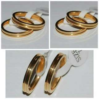 14K Stainless Steel Couple Ring