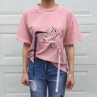 韓國緞帶字母Tee