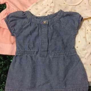 Preloved Dress Baju Bayi 0-6m